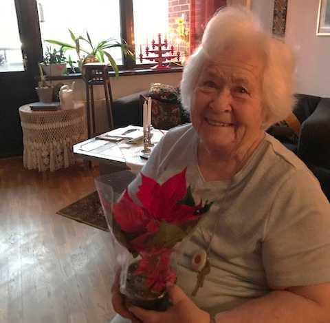 92-åriga Ella Johansson.