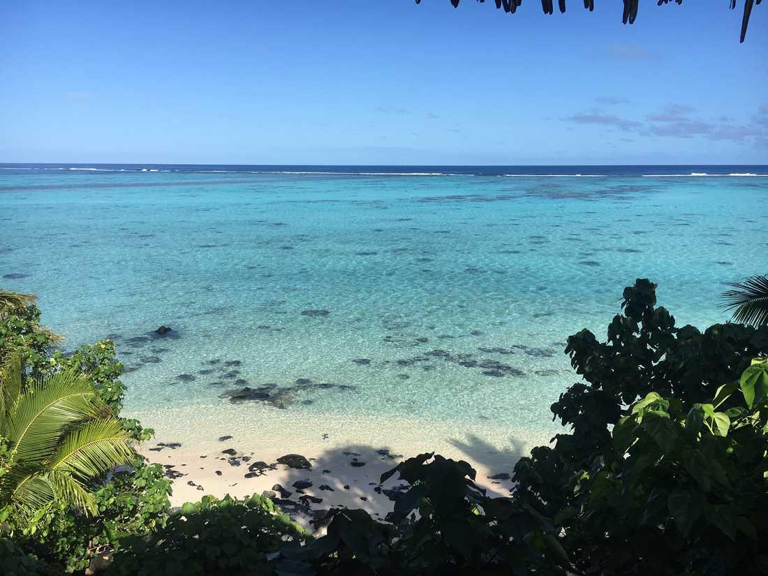 På Cooköarna finns det gott om öde stränder.