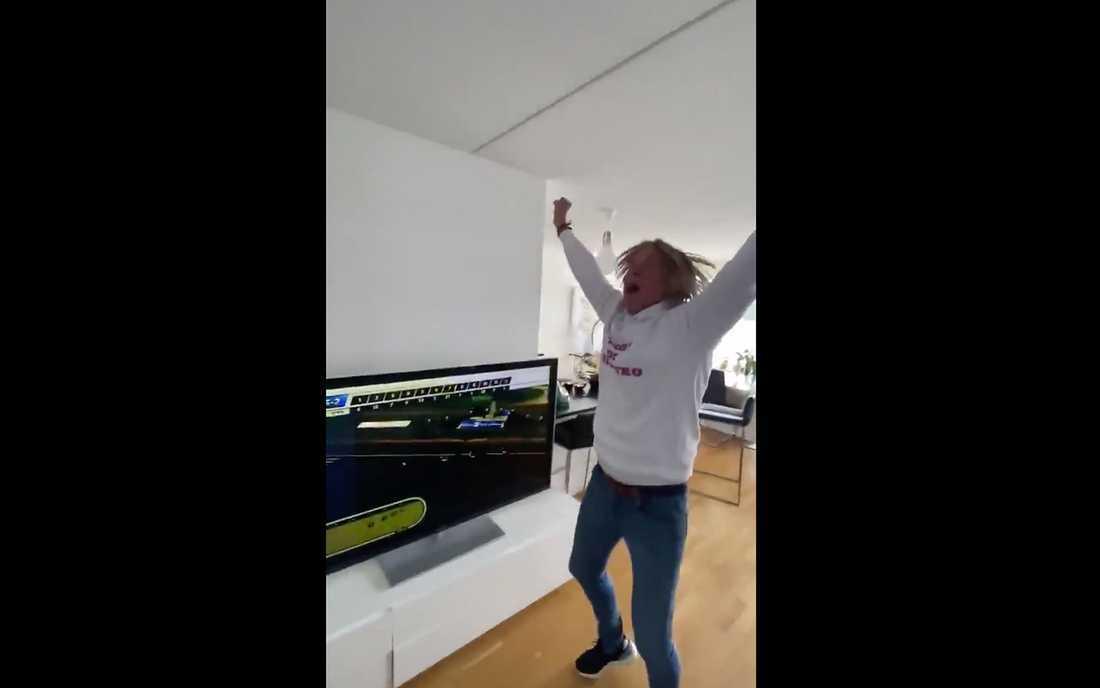 Glenn Strömbergs segerdans blev viral
