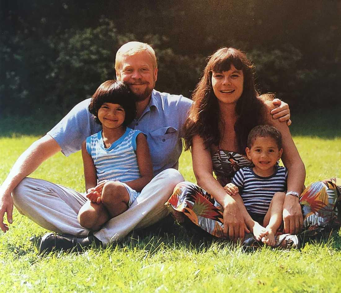 Jonas med familj.