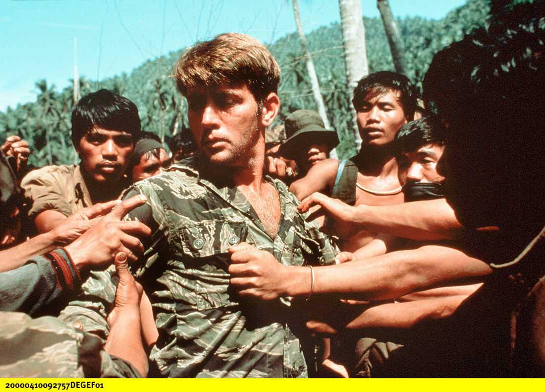Martin Sheen i filmen Apocalypse now (1979), baserad på Joseph Conrads Mörkrets hjärta.