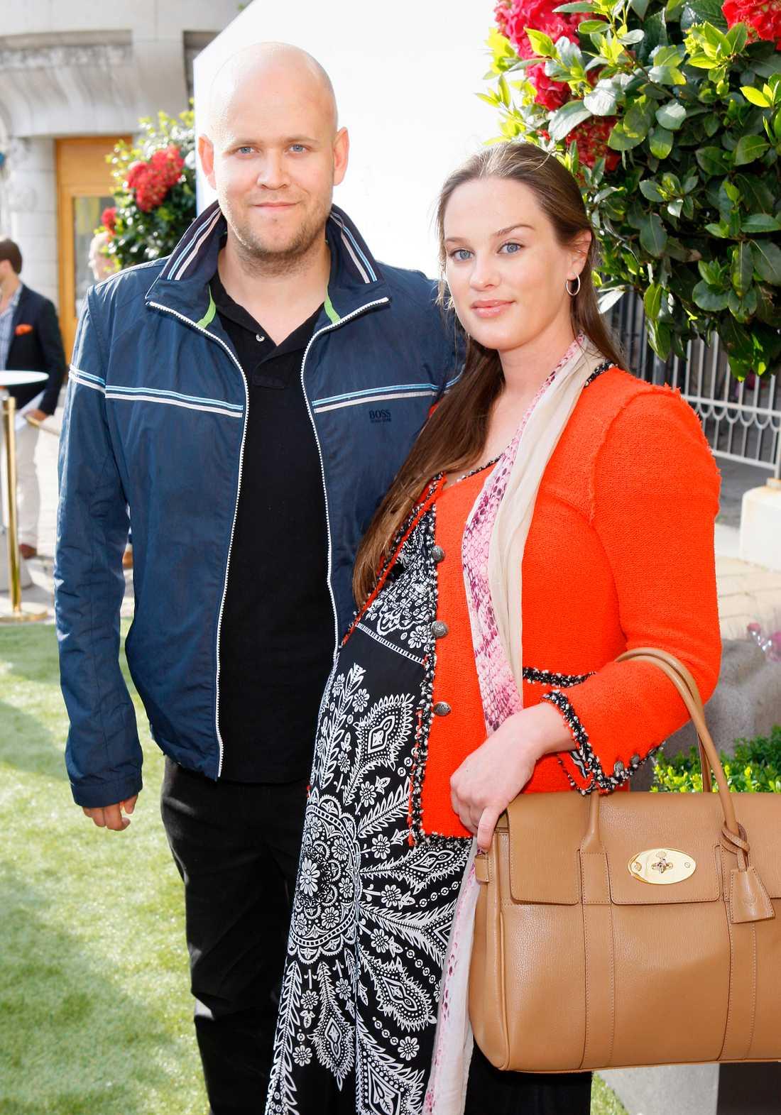 Daniel Ek har gift sig med sin Sofia Levander. Här vid ett tidigare tillfälle när nyblivna frun var höggravid.