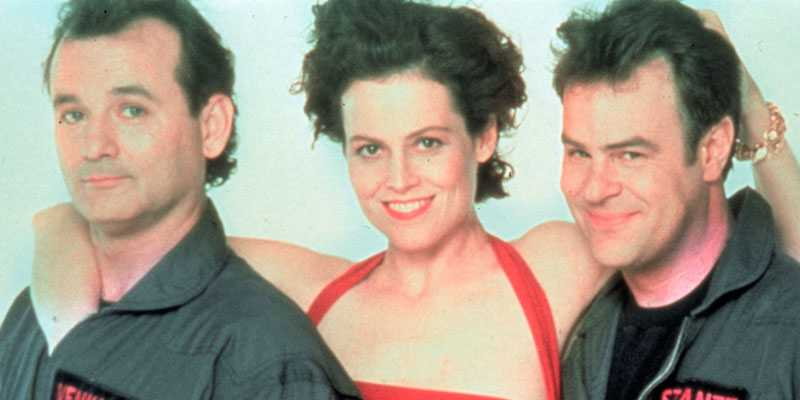 """Bill Murray (till vänster) säger sig vilja göra en tredje """"Ghostbusters""""-film –om hans rollfigur dör i första delen av filmen."""