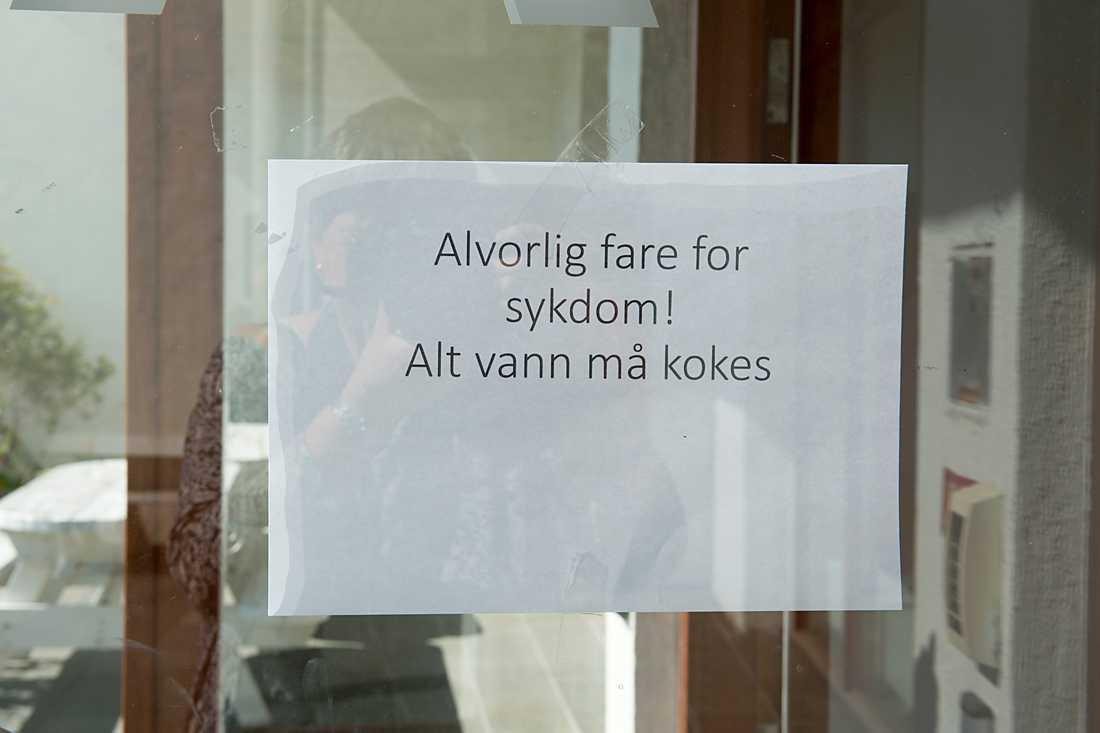 Askøys invånare uppmanas att koka allt dricksvatten.