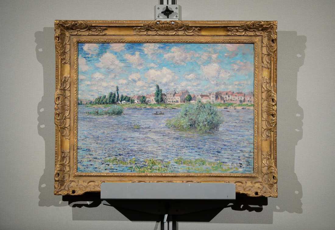 """Claude Monets """"La Seine a Lavacourt""""."""