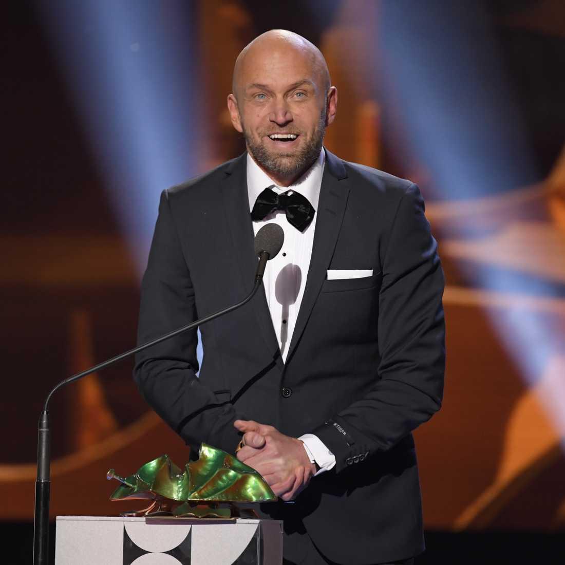 """Joakim Sällquist fick priset för bästa manliga huvudroll i filmen """"Goliat""""."""