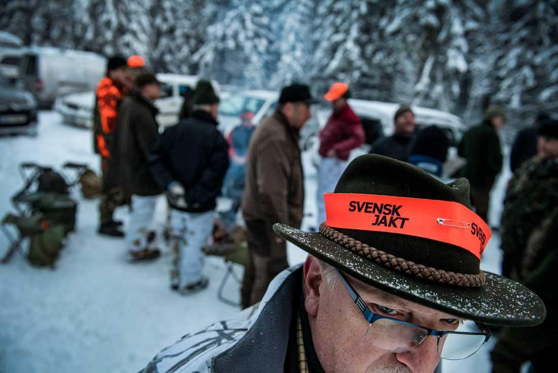 Två dagar efter startskottet för årets licensjakt på varg kom snön. Det innebär att man kan spåra vargen lättare.