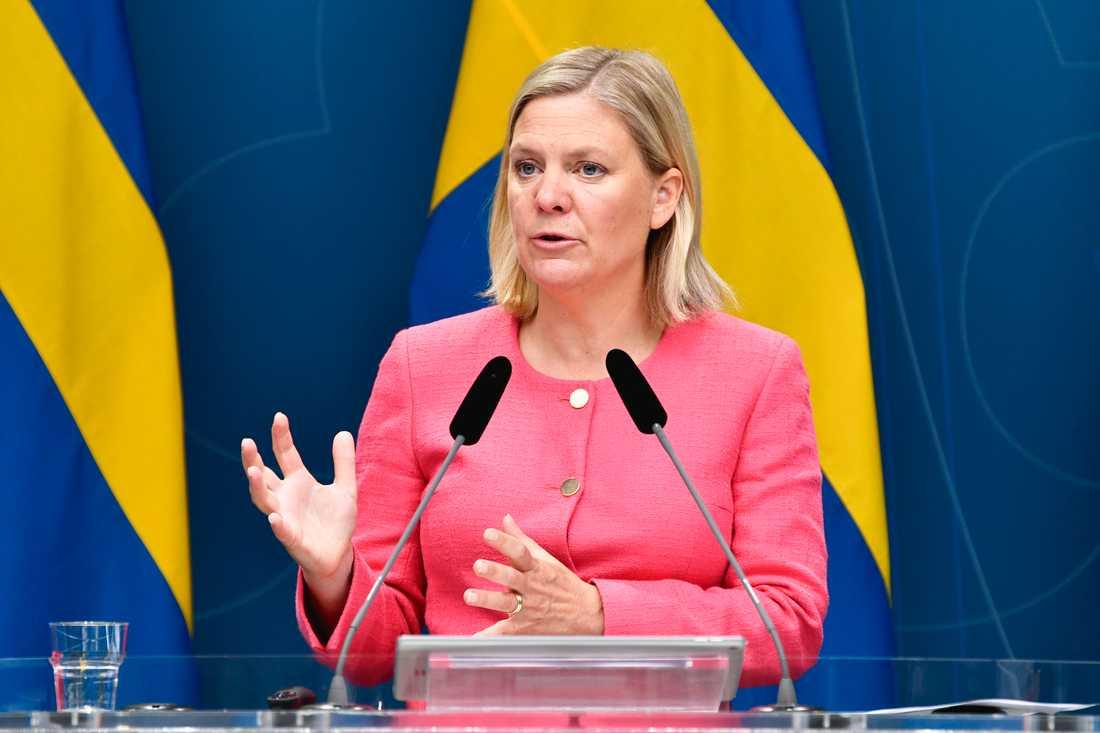 Finansminister Magdalena Andersson (S) har fått se statsfinanserna försämras kraftigt i spåren av coronapandemin. Arkivbild.