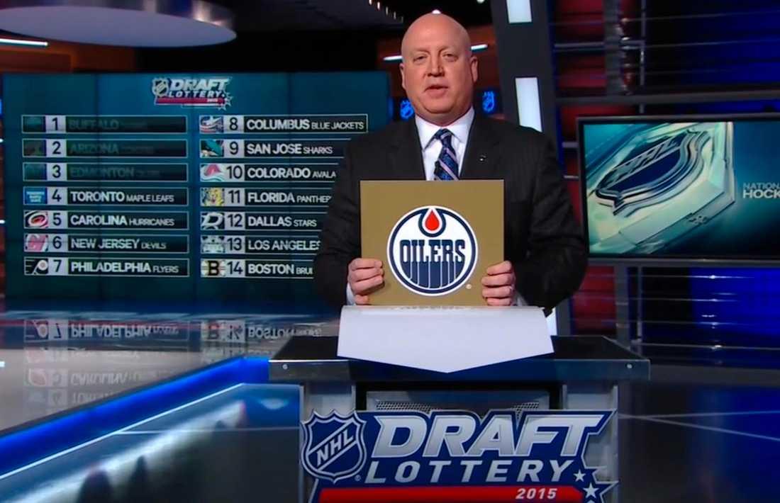...och kommer att få spendera början av sin NHL-karriär i Edmonton Oilers efter att det i natt stod klart att laget får välja först i NHL-draften i sommar.