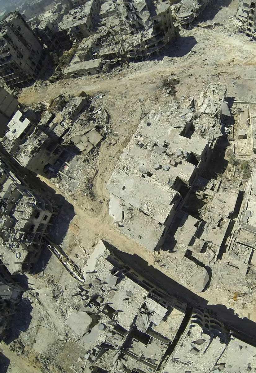 Hårda strider har rasat i staden som sedan syriska inbördeskrigets början har varit ett rebellfäste.