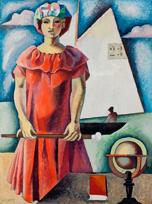 """André Lhote, """"Eloge till geometrin"""", odaterad. Målningen ingår i utställningen """"Form och färg"""" på Waldemarsudde."""