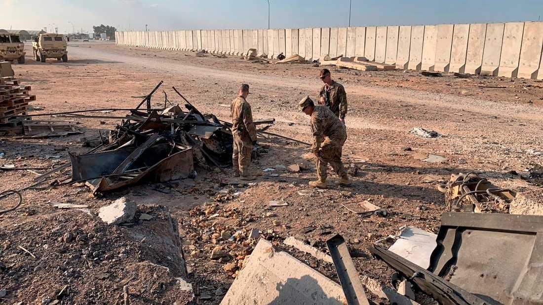 110 amerikanska soldater skadades då Iran anföll en militärbas i Irak den 8 januari.