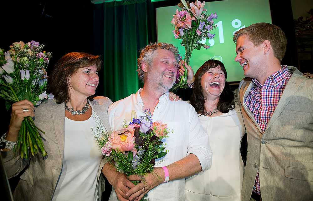 VALJUBEL Miljöpartiet firar fortfarande efter framgångarna EU-valet i förra veckan.