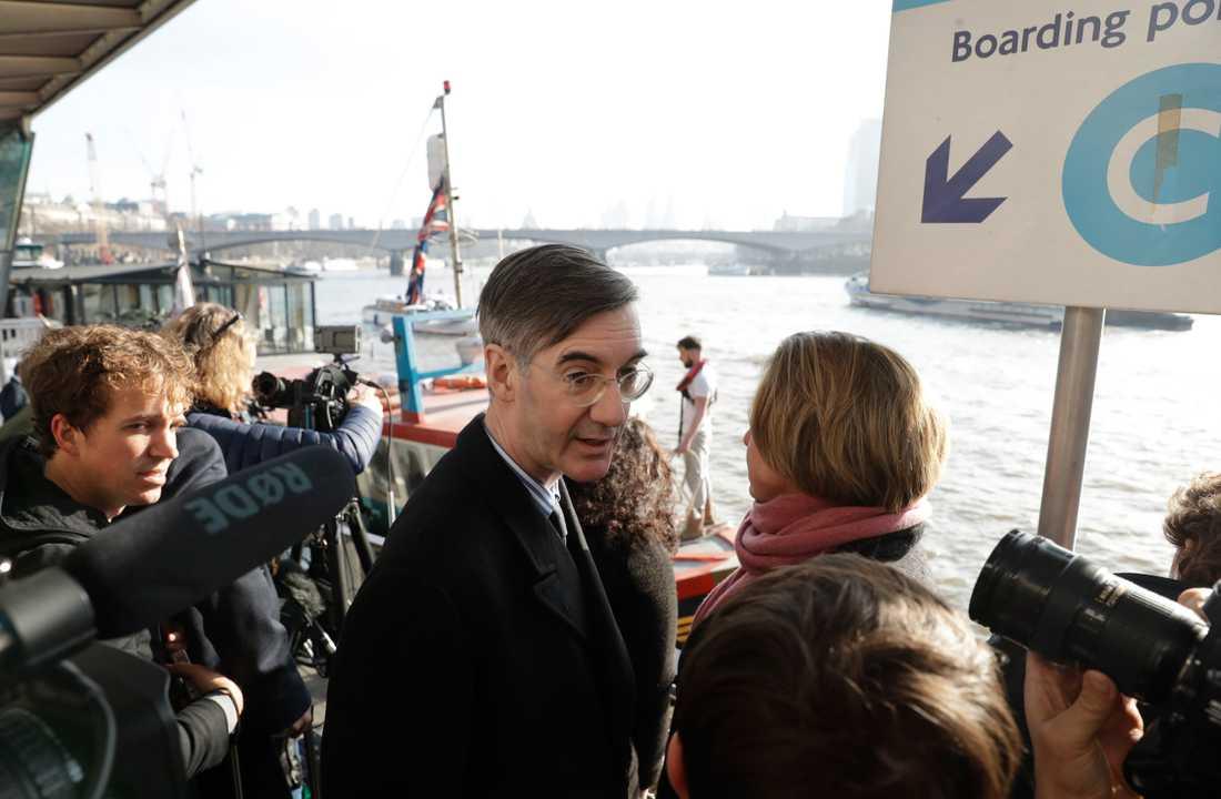 Konservativa partiets parlamentsledamot Jacob Rees-Mogg. Arkivbild.