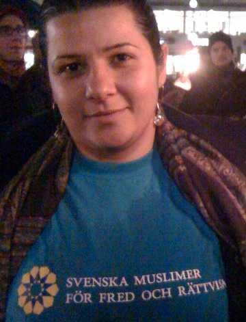 Avin Jomaa från Svenska muslimer för fred och rättvisa.