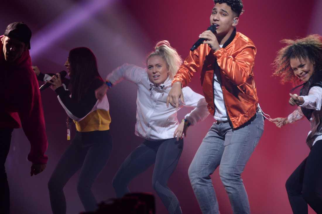 Felix ex Lovisa Bengtsson dansade i förra veckans deltävling.