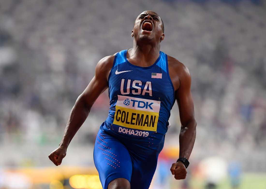 Christian Coleman har vunnit tre VM-guld.