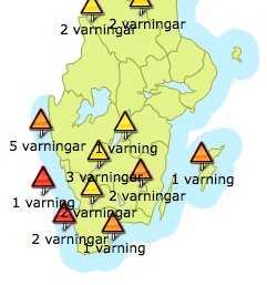 Läs mer om lokala vädervarningar på klart.se