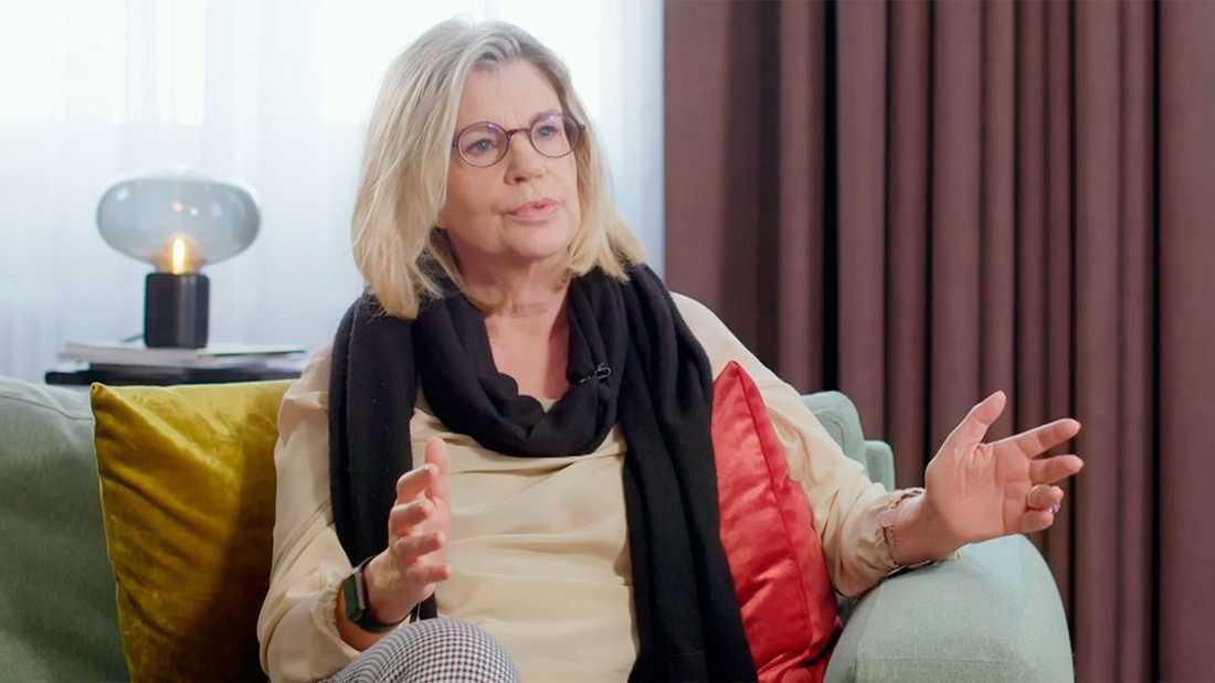 """Malena Ivarsson berättar i tv-programmet """"Svenska tv-historier""""."""