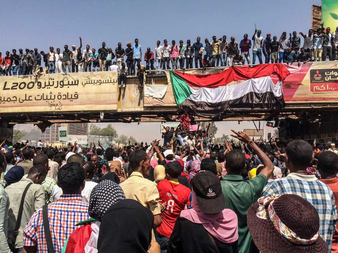 Protesterna i Sudan mot presidenten Omar al-Bashir pågick i månader.