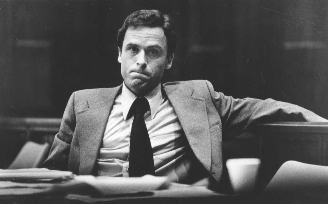 Ted Bundy inför rätta.