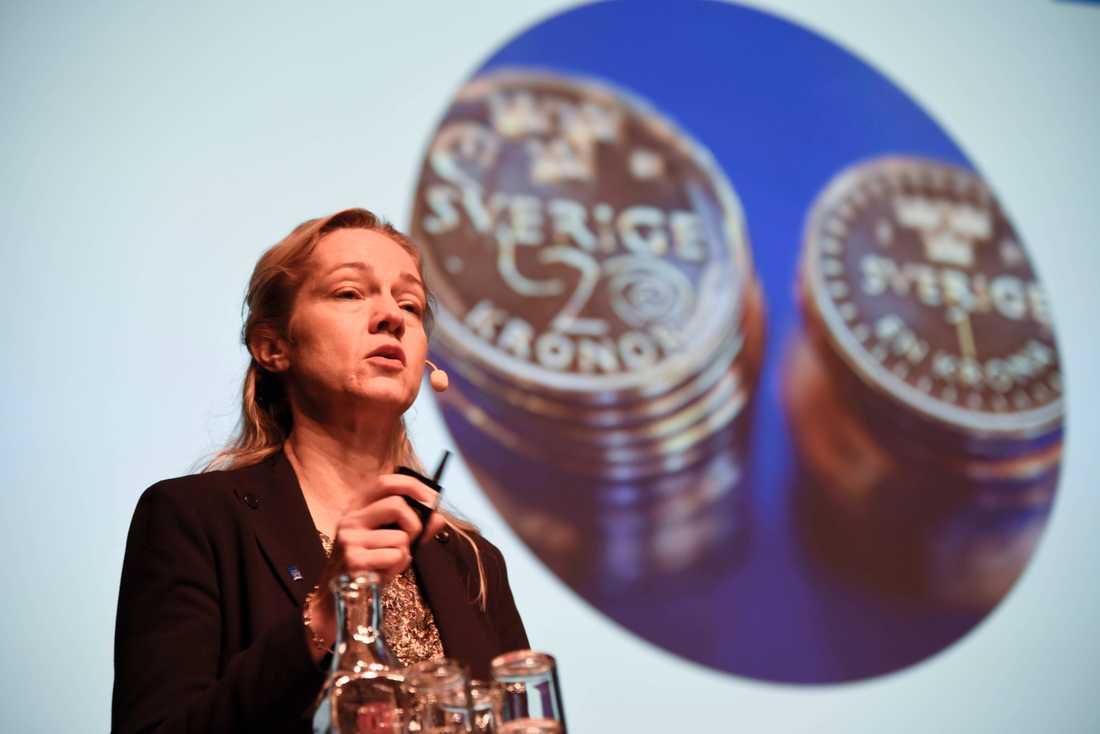 Vice riksbankschef Cecilia Skingsley är den som hållit i projektet om e-kronor. Arkivbild.