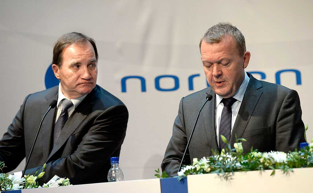 Stefan Löfven och Danmarks statsminister Lars Løkke Rasmussen.