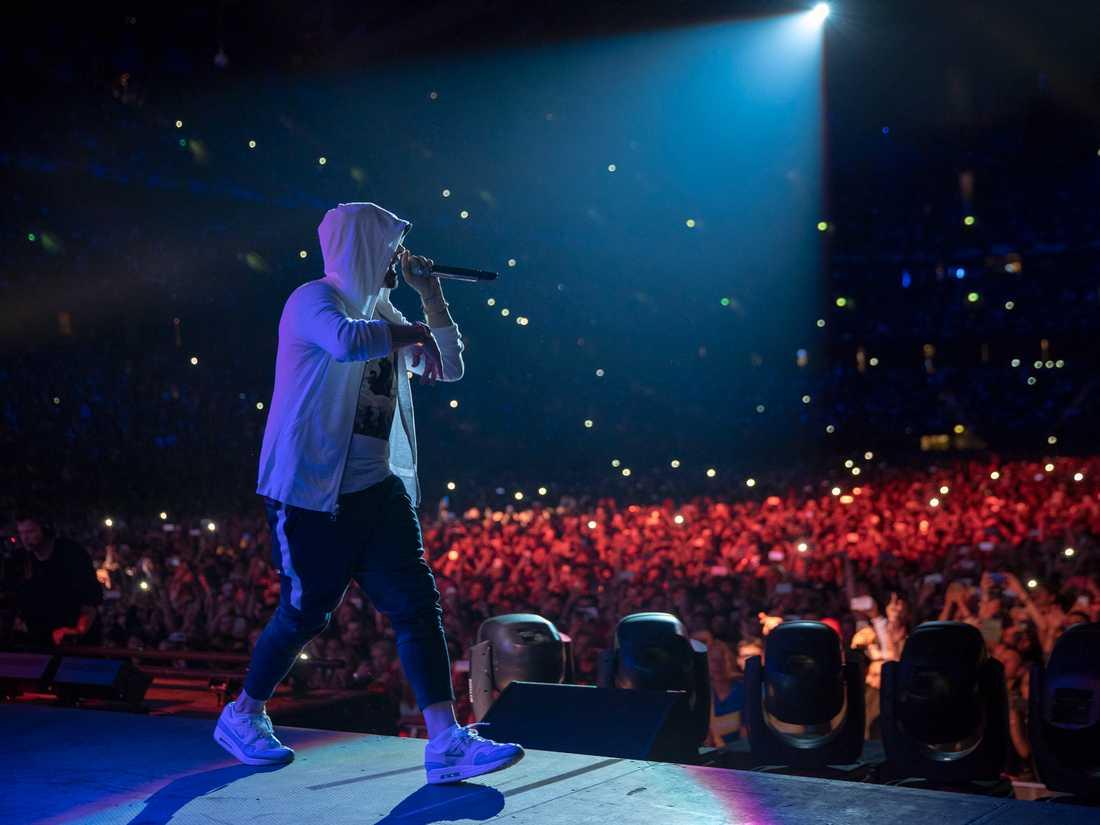 Eminem på Friends arena i Stockholm i somras.
