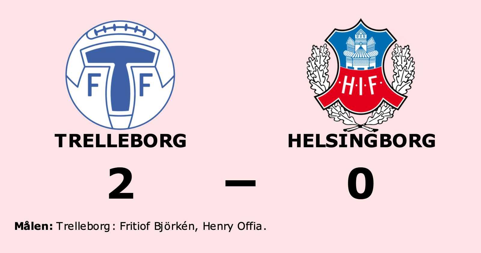 Björkén och Offia sänkte Helsingborg