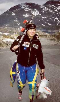 FÖR TUNG Anja Pärson väger 81 kilo – för mycket för slalom tycker hon.