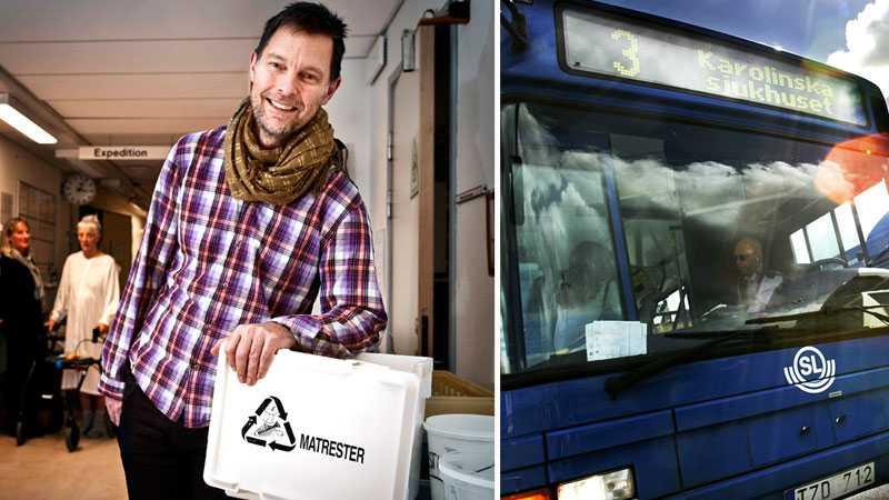 """""""HELT OTROLIGT"""" Ärtor och gulasch görs till biobränsle på Danderyds sjukhus tack vare Jan Rapp. """"Alla kan göra det hemma"""", säger han om sin insats."""