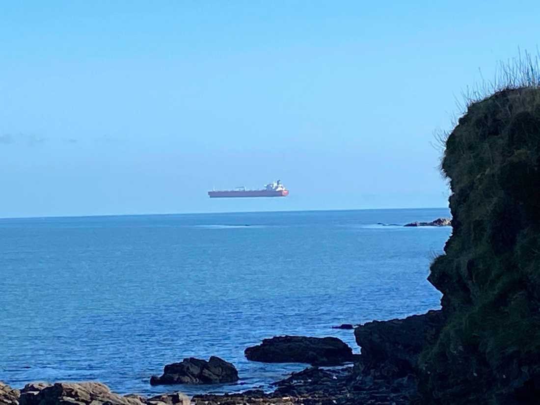 Det flygande skeppet i Engelska kanalen.