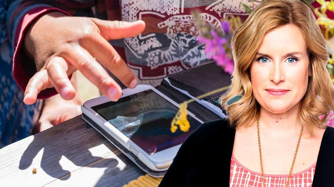 Under semestern blev allt på Angelica Öhagens mobil raderat.