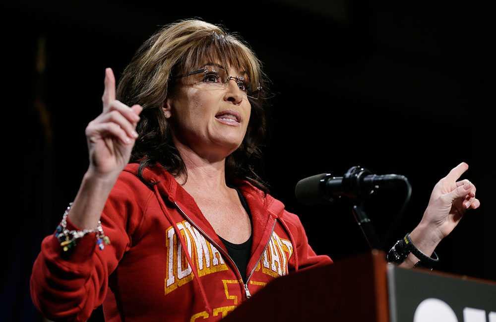 Sarah Palin, 51, ex-guvernör, Alaska.