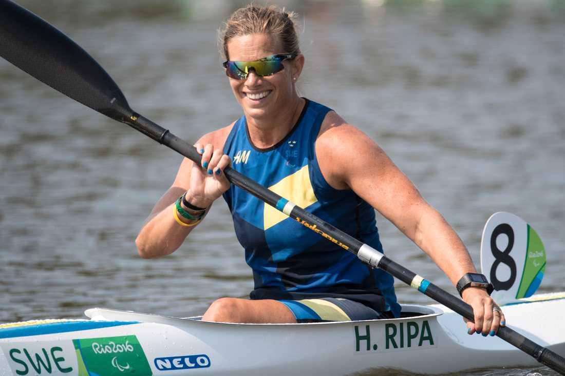 Helene Ripa vid Paralympics i Rio de Janeiro i fjol. Nu lägger hon av med skidor för att satsa helhjärtat på kanot.