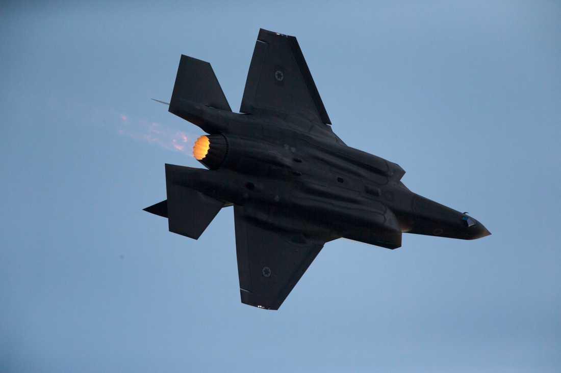 Ett F-35-plan som ingår i det israeliska flygvapnet.
