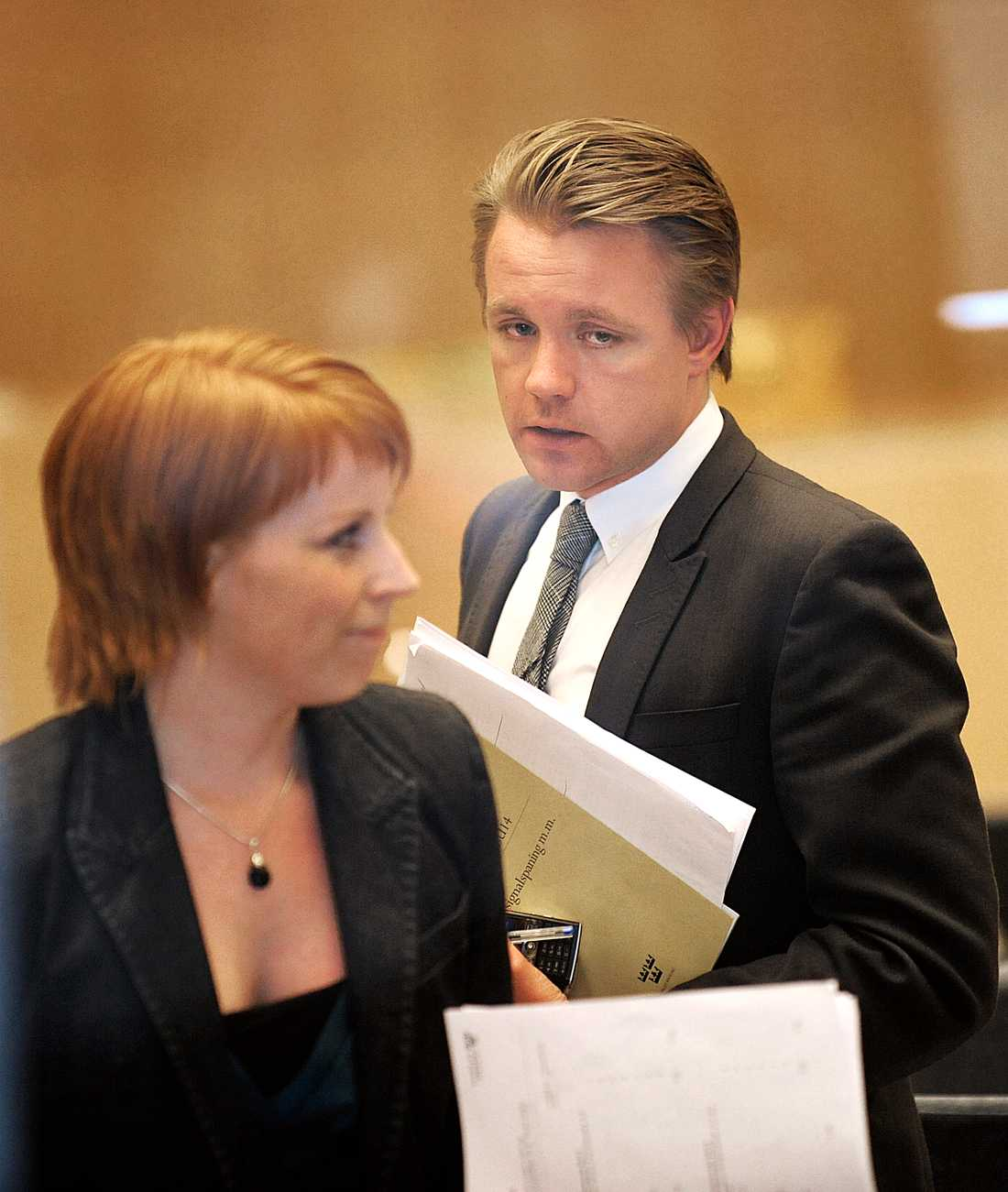 RÖSTADE MOT PARTIET Annie Lööf och Fredrik Federley röstade mot partiet i FRA-frågan 2008.