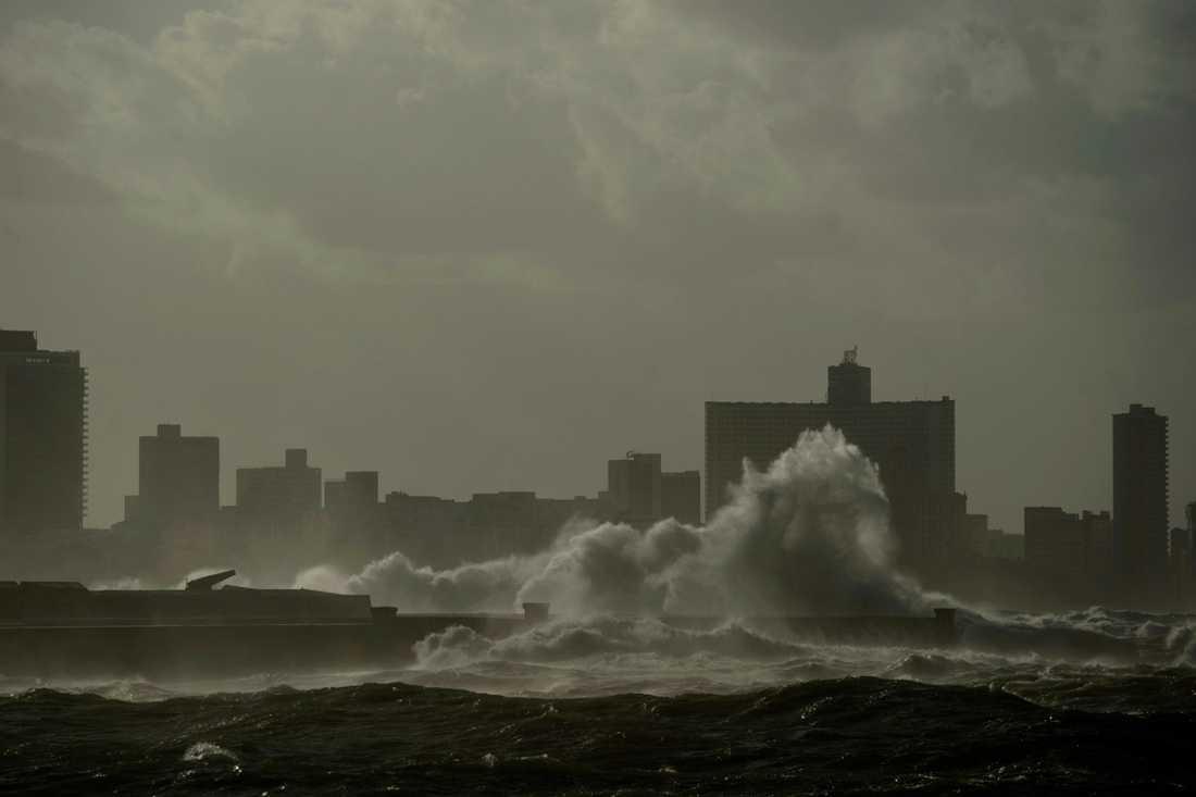 Kubas huvudstad Havanna fotograferad vid ett tidigare oväder i december.
