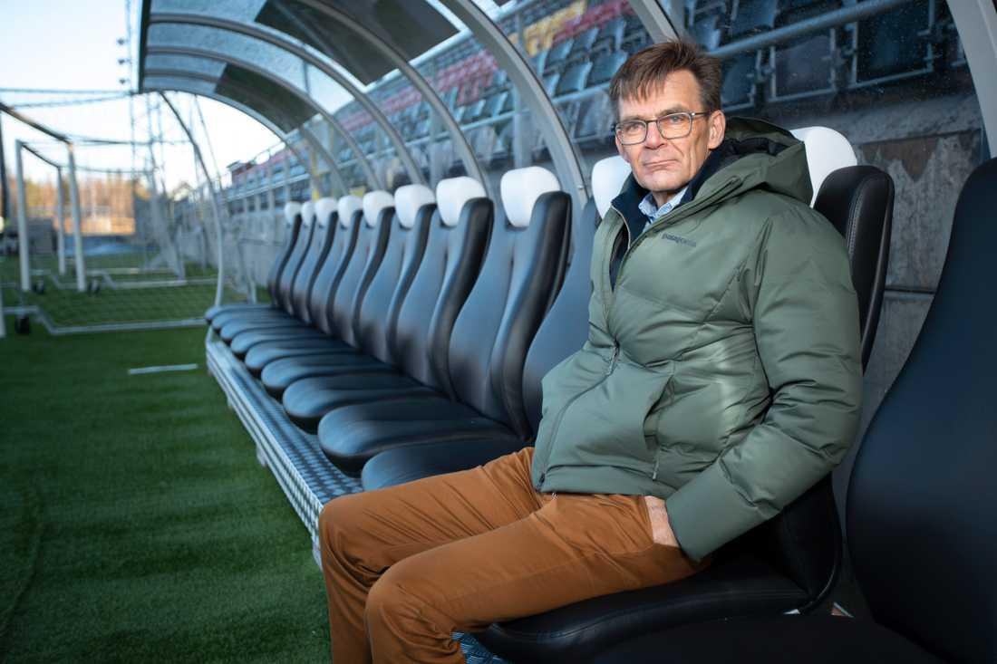 Östersunds vd Lennart Ivarsson vill inte kommentera vilket bolag som ska sponsra klubben med 15 miljoner. Arkivbild.