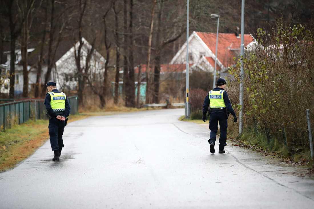 Polisen söker i ett allt större område efter den försvunna 17-åringen i Uddevalla. Bilden togs tidigare i veckan.