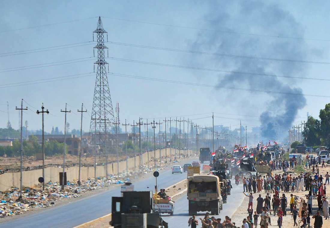 Irakiska styrkor utanför Kirkuk.
