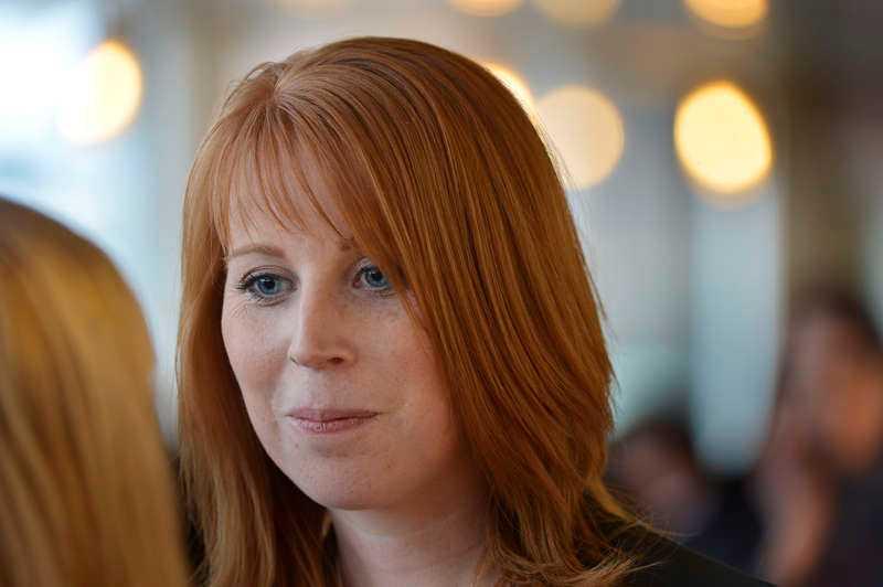 Annie Lööf tvingades rätta sig på Twitter.