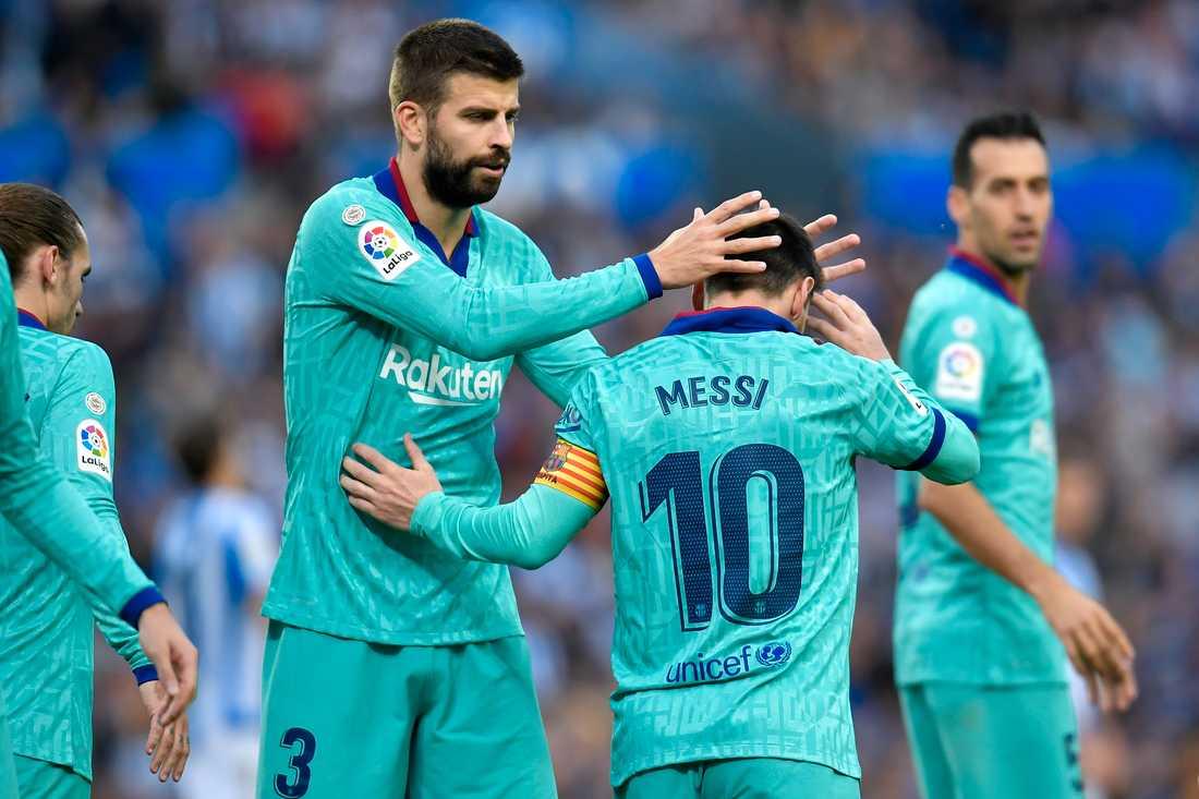 Pique och Messi har drabbats.