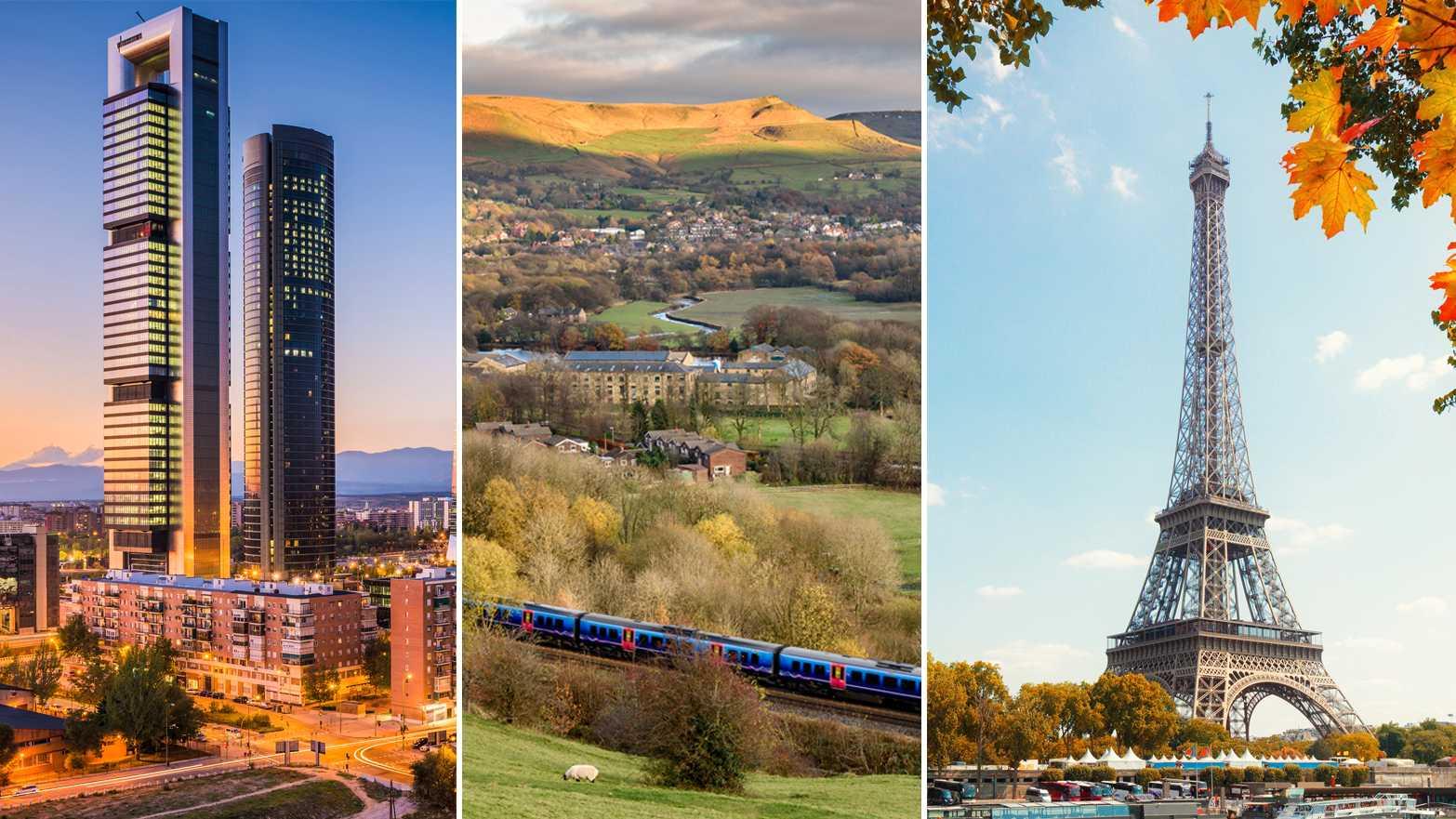 Flera populära resmål går snabbare att ta tåget till – och det är bättre för miljön