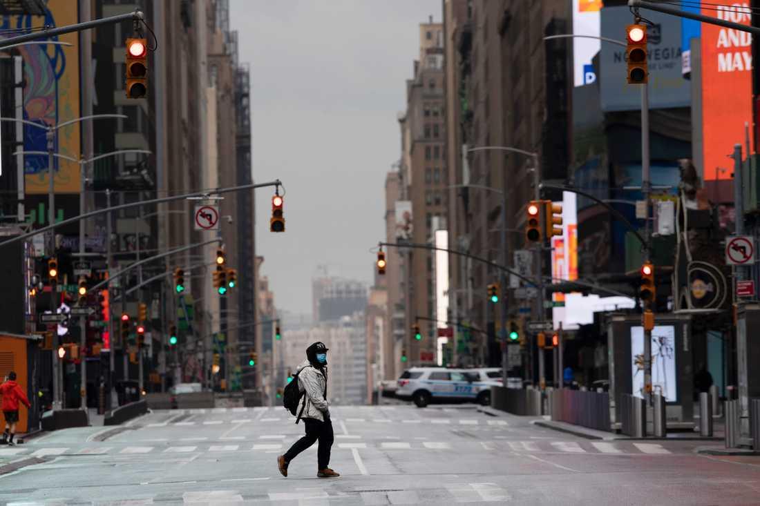 New York ligger öde.