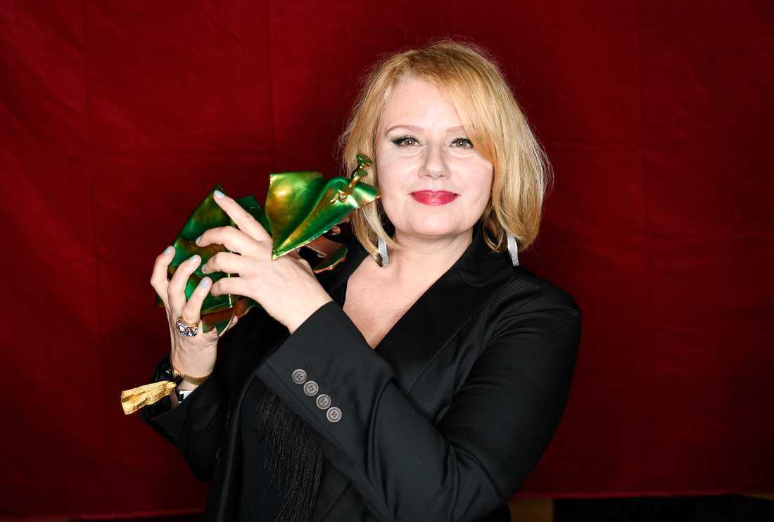 """Lena Nilsson fick priset för bästa kvinnliga biroll i filmen """"Videomannen""""."""