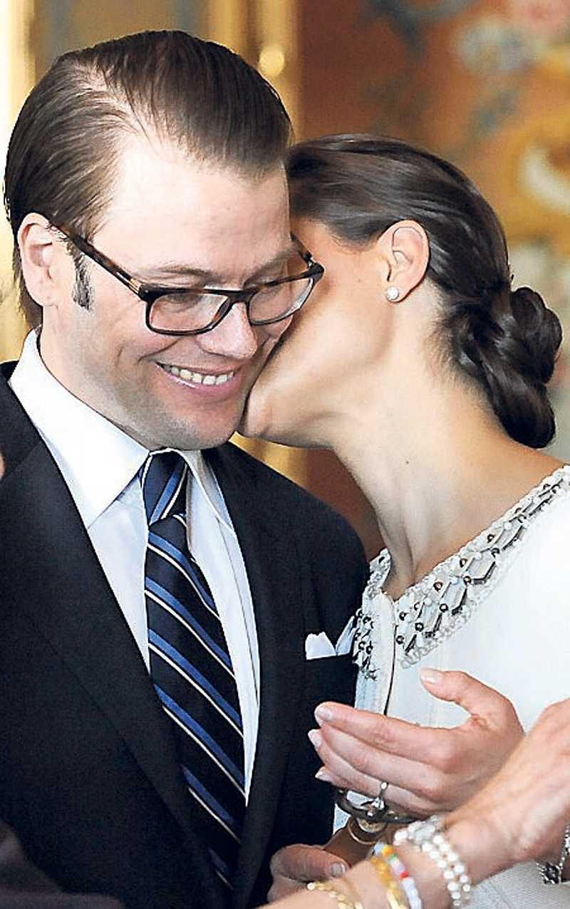 ...lysningen i går. Hon bjöd också på många skratt och pussar.