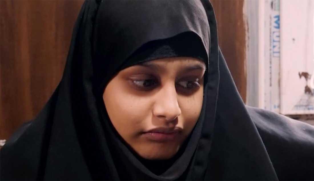 Shamima Begum vill återvända till Storbritannien.