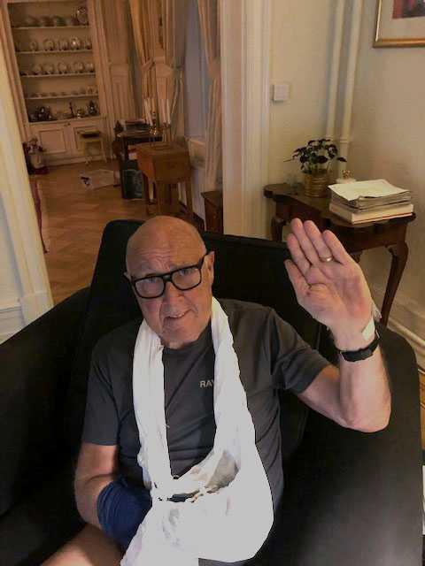 Ingvar Oldsberg med ledbandsskada.