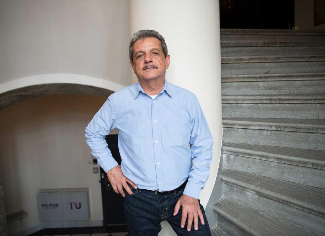 Den mexikanske journalisten Ismael Bojórquez Perea på besök i Stockholm för att ta emot Reportrar utan gränsers pressfrihetspris.